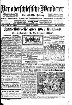 ˜Derœ Oberschlesische Wanderer vom 04.02.1916