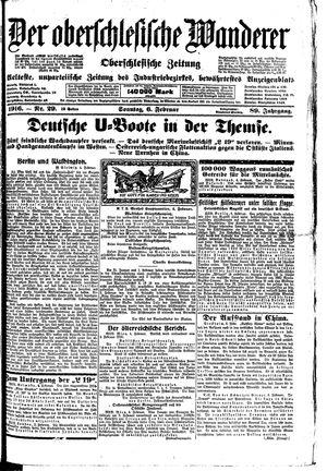 ˜Derœ Oberschlesische Wanderer vom 06.02.1916