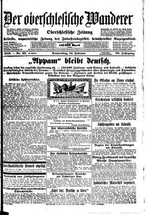 ˜Derœ Oberschlesische Wanderer vom 10.02.1916