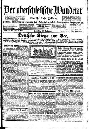 ˜Derœ Oberschlesische Wanderer vom 13.02.1916