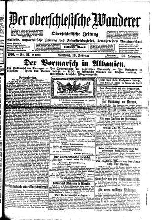 ˜Derœ Oberschlesische Wanderer vom 16.02.1916