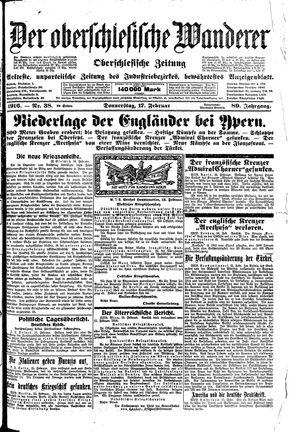 ˜Derœ Oberschlesische Wanderer vom 17.02.1916