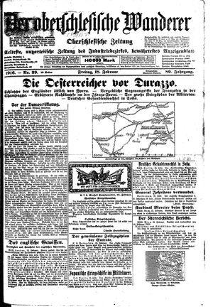 ˜Derœ Oberschlesische Wanderer vom 18.02.1916