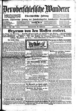 ˜Derœ Oberschlesische Wanderer vom 19.02.1916