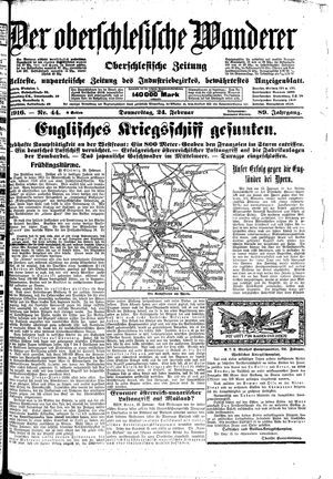 ˜Derœ Oberschlesische Wanderer vom 24.02.1916