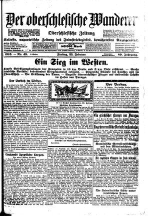 ˜Derœ Oberschlesische Wanderer vom 25.02.1916