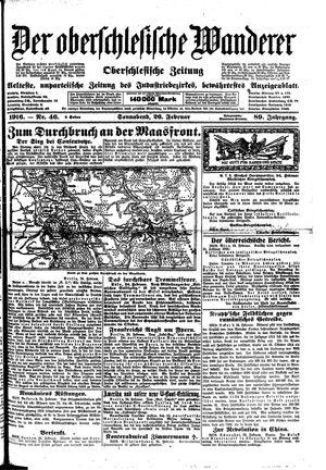 ˜Derœ Oberschlesische Wanderer vom 26.02.1916