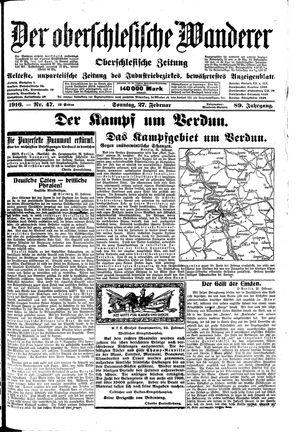 ˜Derœ Oberschlesische Wanderer vom 27.02.1916