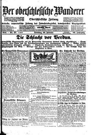 ˜Derœ Oberschlesische Wanderer vom 29.02.1916