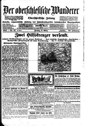 ˜Derœ Oberschlesische Wanderer vom 03.03.1916