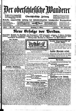 ˜Derœ Oberschlesische Wanderer vom 05.03.1916