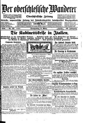 ˜Derœ Oberschlesische Wanderer vom 09.03.1916