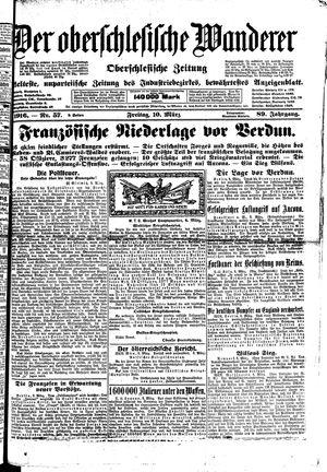 ˜Derœ Oberschlesische Wanderer vom 10.03.1916
