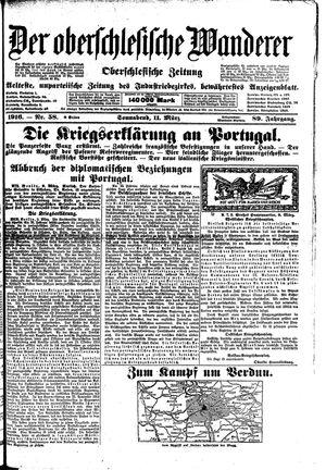 ˜Derœ Oberschlesische Wanderer vom 11.03.1916