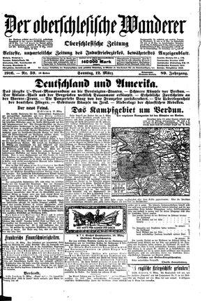 ˜Derœ Oberschlesische Wanderer vom 12.03.1916