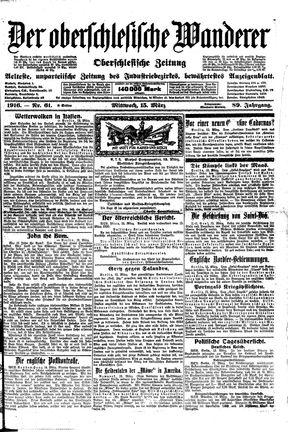 ˜Derœ Oberschlesische Wanderer vom 15.03.1916