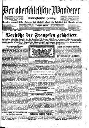˜Derœ Oberschlesische Wanderer vom 18.03.1916