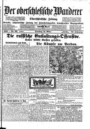˜Derœ Oberschlesische Wanderer vom 21.03.1916