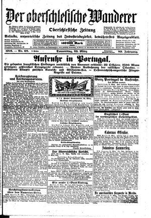 ˜Derœ Oberschlesische Wanderer vom 23.03.1916