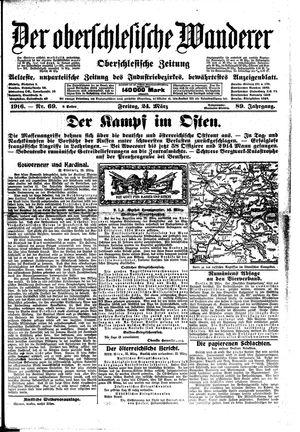 ˜Derœ Oberschlesische Wanderer vom 24.03.1916
