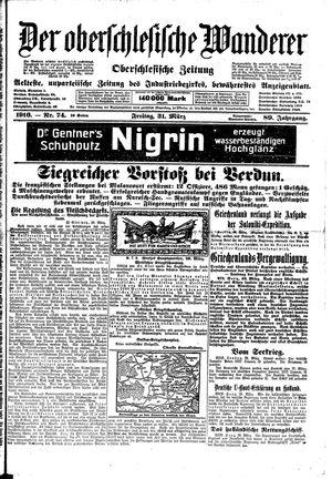 ˜Derœ Oberschlesische Wanderer vom 31.03.1916