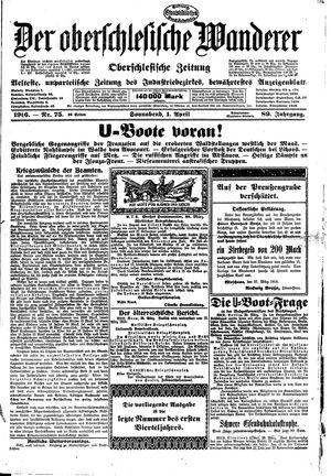 ˜Derœ Oberschlesische Wanderer vom 01.04.1916