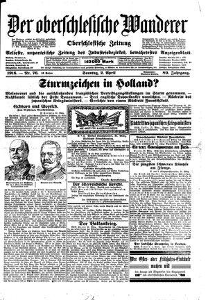 ˜Derœ Oberschlesische Wanderer vom 02.04.1916