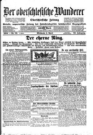 ˜Derœ Oberschlesische Wanderer vom 05.04.1916