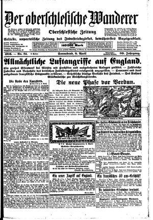 ˜Derœ Oberschlesische Wanderer vom 08.04.1916
