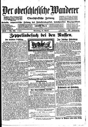 ˜Derœ Oberschlesische Wanderer vom 11.04.1916