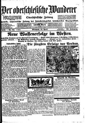 ˜Derœ Oberschlesische Wanderer vom 12.04.1916