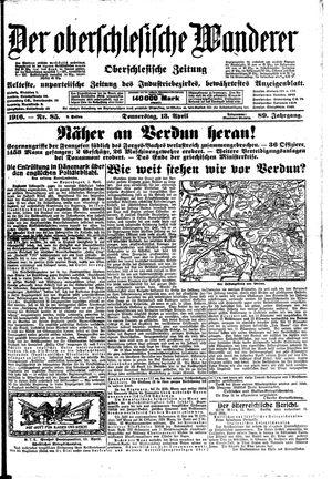 ˜Derœ Oberschlesische Wanderer vom 13.04.1916