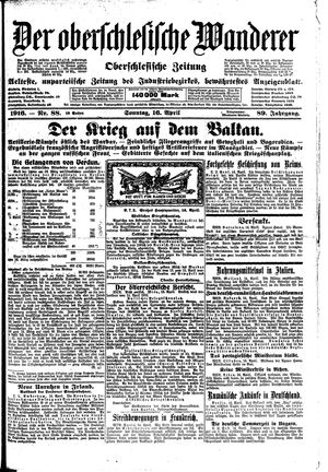 ˜Derœ Oberschlesische Wanderer vom 16.04.1916