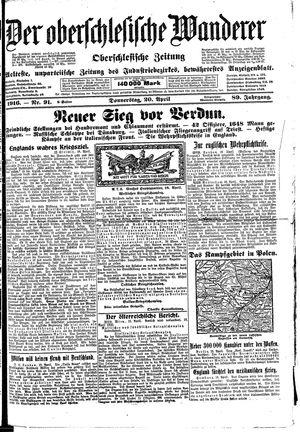 ˜Derœ Oberschlesische Wanderer vom 20.04.1916