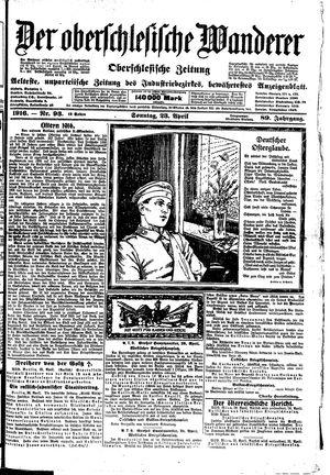 ˜Derœ Oberschlesische Wanderer vom 23.04.1916