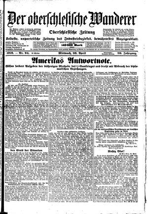 ˜Derœ Oberschlesische Wanderer vom 26.04.1916