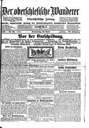 ˜Derœ Oberschlesische Wanderer vom 27.04.1916