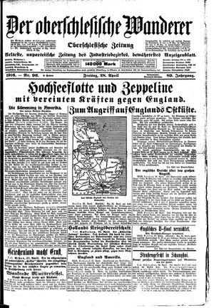 ˜Derœ Oberschlesische Wanderer vom 28.04.1916