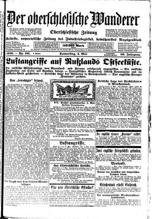 ˜Derœ Oberschlesische Wanderer vom 04.05.1916