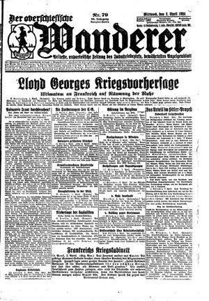 ˜Derœ Oberschlesische Wanderer vom 02.04.1924