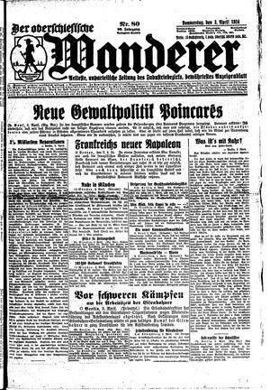˜Derœ Oberschlesische Wanderer vom 03.04.1924