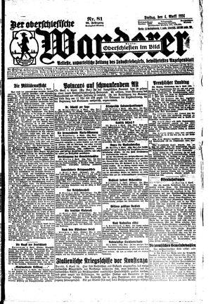 ˜Derœ Oberschlesische Wanderer vom 04.04.1924