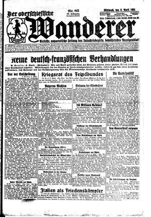 ˜Derœ Oberschlesische Wanderer vom 09.04.1924