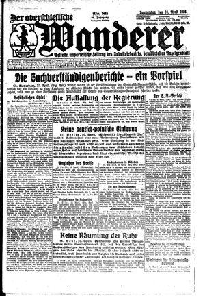˜Derœ Oberschlesische Wanderer vom 10.04.1924