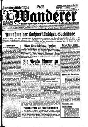 ˜Derœ Oberschlesische Wanderer vom 12.04.1924