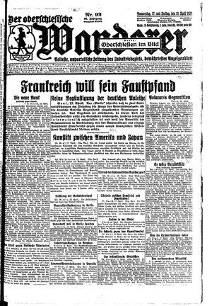 ˜Derœ Oberschlesische Wanderer vom 17.04.1924