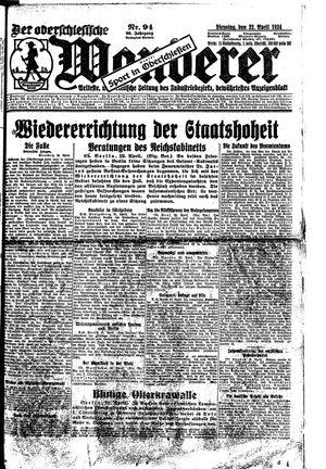 ˜Derœ Oberschlesische Wanderer vom 22.04.1924