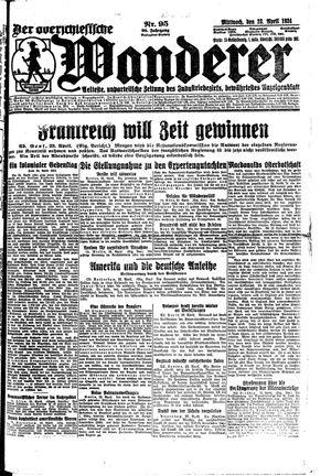˜Derœ Oberschlesische Wanderer vom 23.04.1924