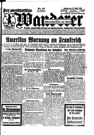 ˜Derœ Oberschlesische Wanderer vom 25.04.1924