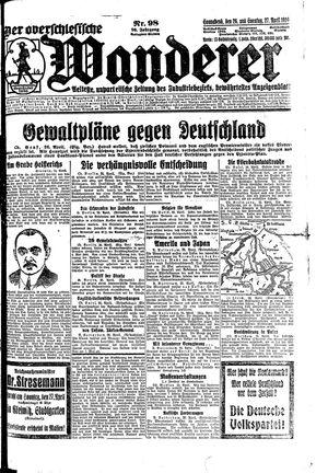 ˜Derœ Oberschlesische Wanderer vom 26.04.1924